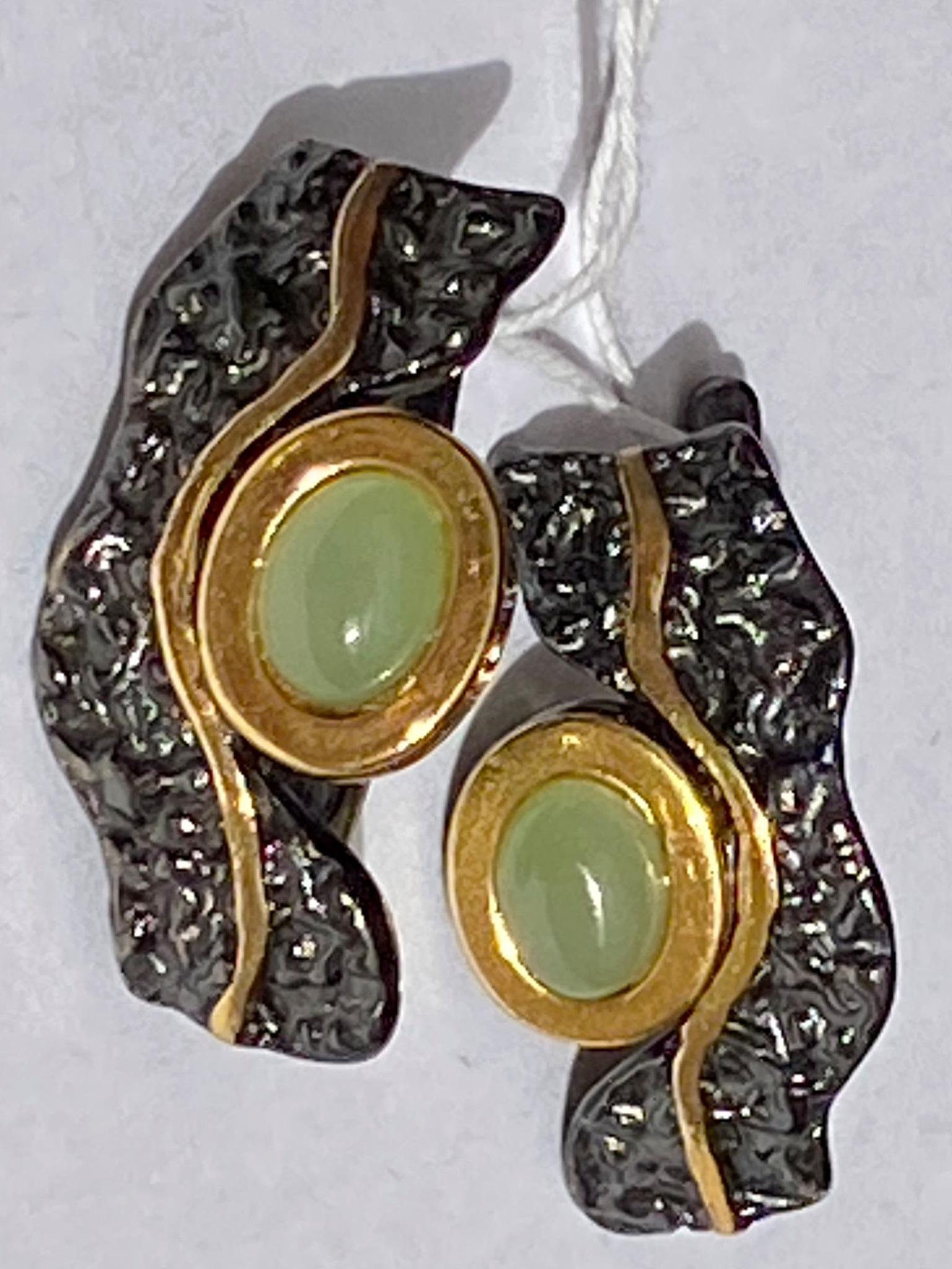 Скифы-нефрит (серьги из серебра)