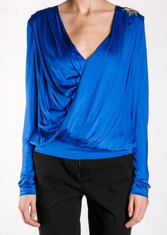 Блуза с брошью EMILIO PUCCI