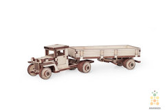 Lemmo деревянные конструкторы - Грузовики - ЗИС-5 с прицепом