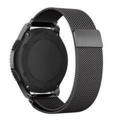 Ремешок для часов Samsung Gear S3/Galaxy Watch 46 Миланская петля (черный) 22мм