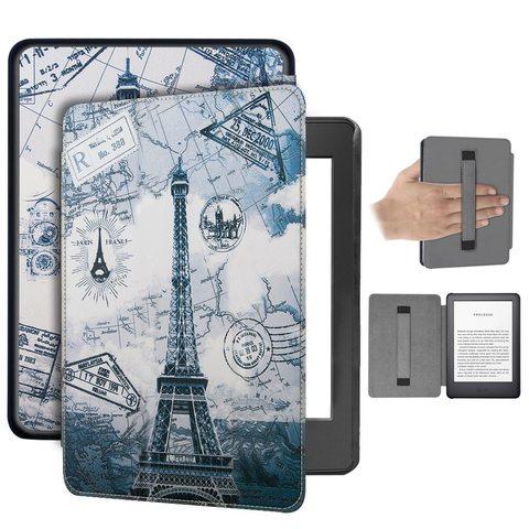 Магнитный кожаный чехол для Amazon Kindle Paperwhite 2018 (4th gen) Париж