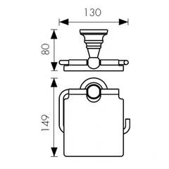 Держатель для туалетной бумаги KAISER Arno BR KH-4200 схема