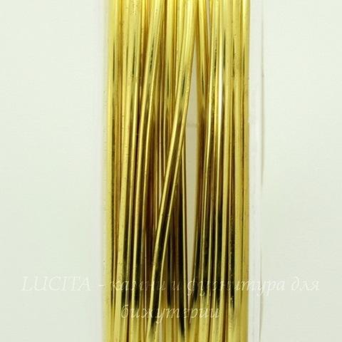 Проволока медная 1 мм, цвет - латунь, примерно 2,5 метра