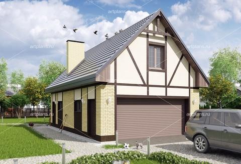 Жилой гараж на 2 машины с жилой комнатой и хозблоком