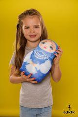 Мягкая игрушка-подушка Gekoko «Матрешка зимняя» 1