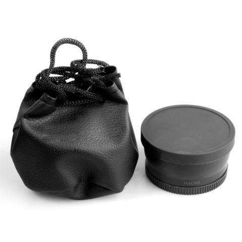 Wide  0.45X широкоугольная насадка рыбий глаз, fisheye для Canon Nikon