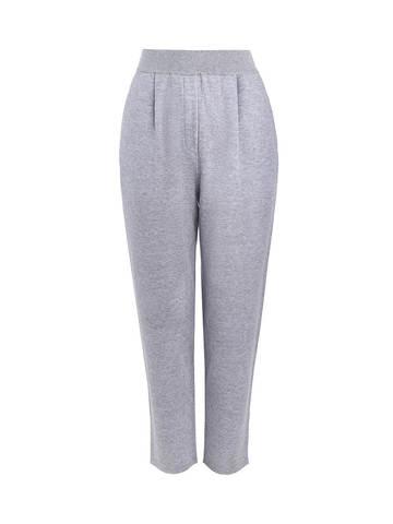 Женские брюки с защипами серебряного цвета из вискозы - фото 1