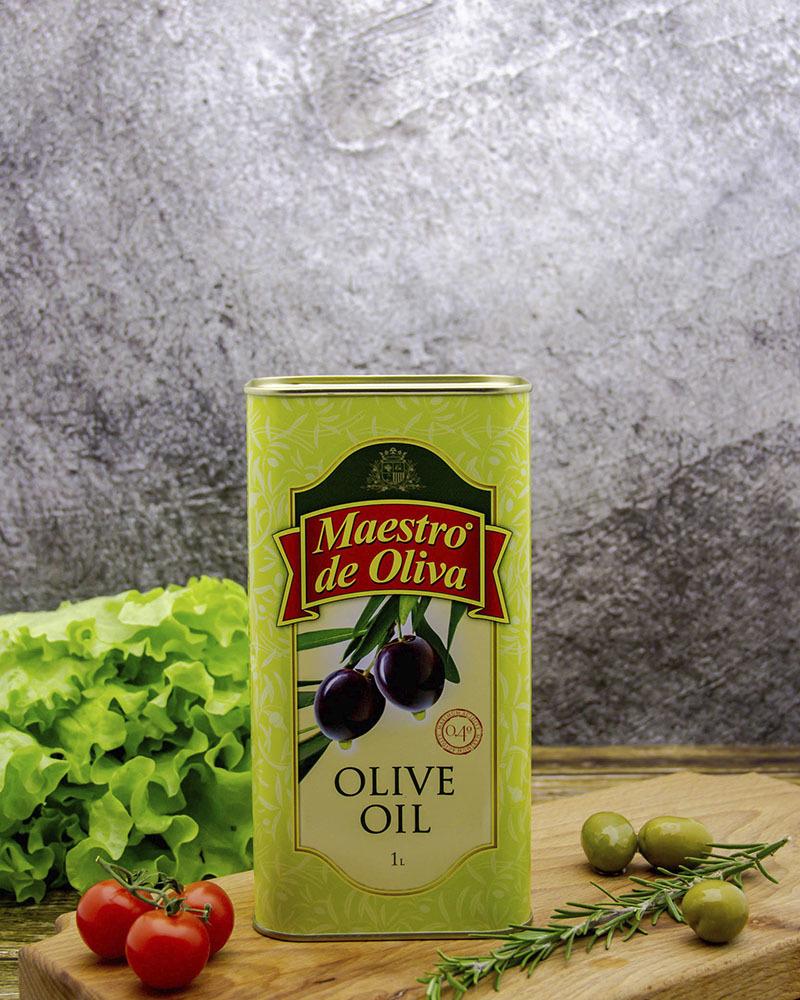 Оливковое масло Maestro de Oliva 100% 1 л.