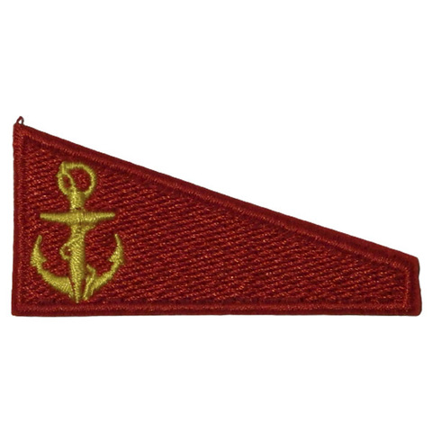 Уголок на берет вышитый Флаг красный (МП)