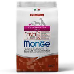 Корм для собак миниатюрных пород Monge Dog Extra Small с ягненком, рисом и картофелем