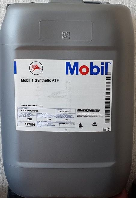Купить на сайте Ht-oil.ru официальный дилер MOBIL 1 SYNTETIC ATF трансмиссионное масло для АКПП синтетическое артикул 152678 (20 Литров)