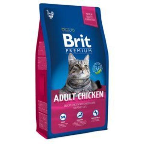 3810 Brit Premium Cat Adult Chicken д/взрослых кошек с Курицей 1,5кг*10