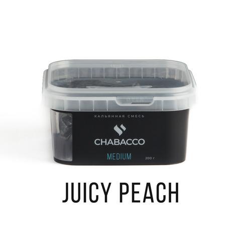 Кальянная смесь Chabacco - Juicy Peach (Сочный Персик) 200 г