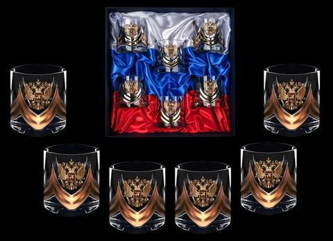 Подарочный набор стаканов для виски «Власть-3», Триколор