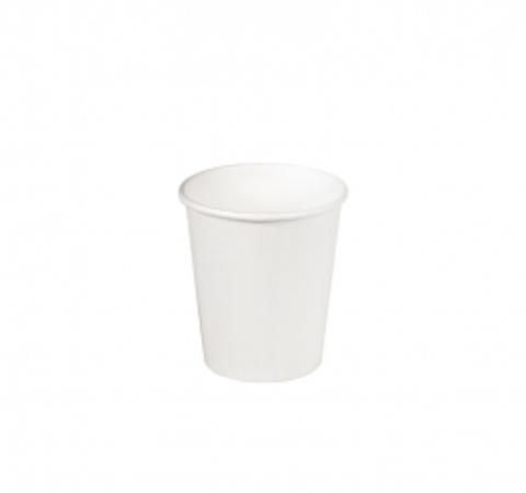 Стакан бумажный 1сл 100 (130) мл d=62мм белый