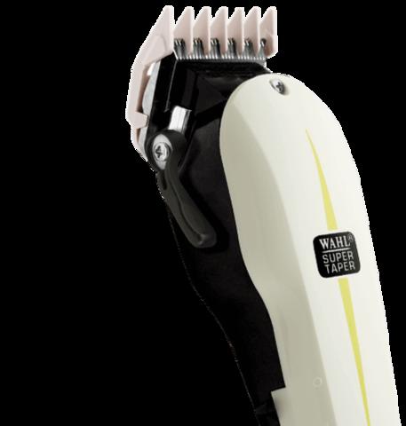 Машинка для стрижки Wahl Super Taper, сетевая, 4 насадки, белая