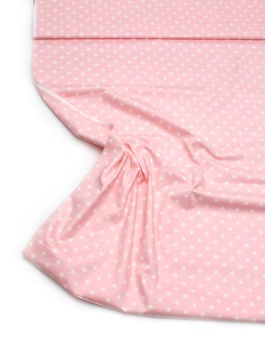 Звезды белые нежно-розовый фон