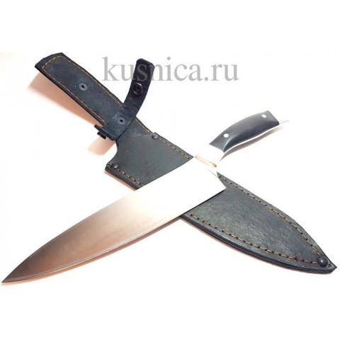 Нож Кухонный Большой сталь 110х18, рукоять граб