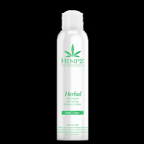 Лак растительный для волос средней фиксации Здоровые волосы / Hempz Herbal Workable Hairspray Medium Hold