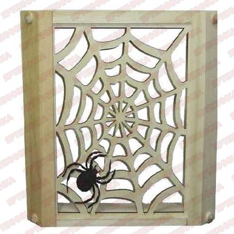Абажур угловой Паутина с пауком (Липа)