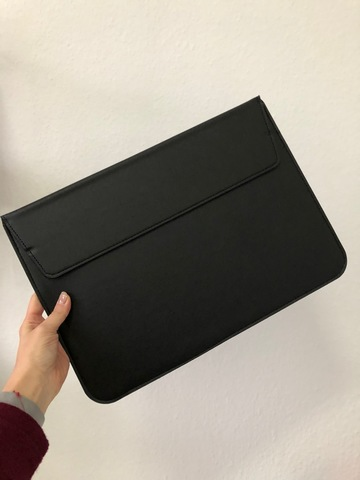 Папка конверт для MacBook PU sleeve bag 15'' /black/