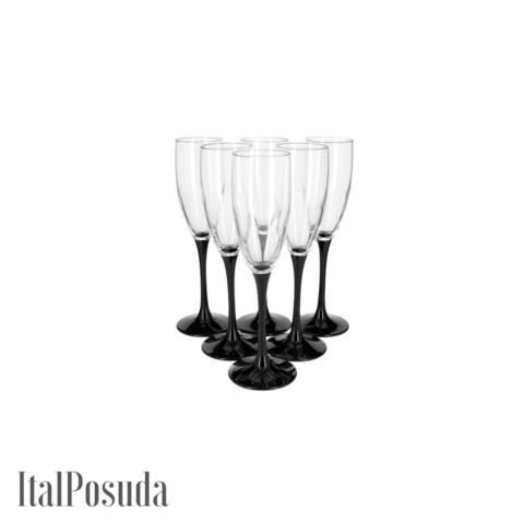 Набор фужеров для шампанского Luminarc Domino (Домино), 6 шт H8167