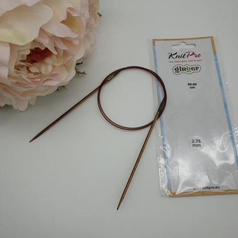 Спицы круговые KnitPro Ginger 80 см № 2.75