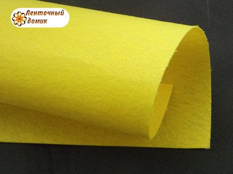 Фетр жесткий толщина 1 мм желтый