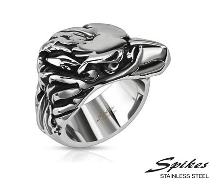 R-Q8062 Мужское кольцо «Spikes» из ювелирной стали.
