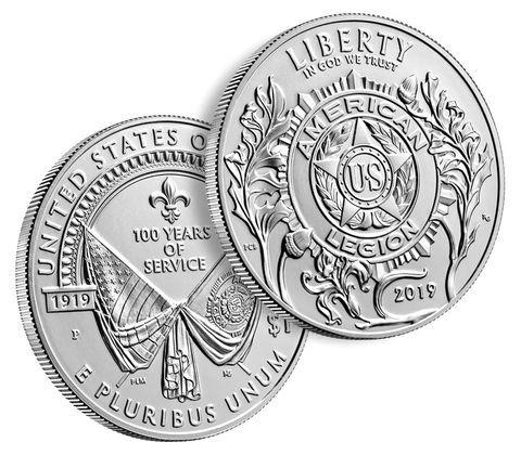 1 доллар. Американский легион. 100 лет со дня основания. США. 2019 г. UNC