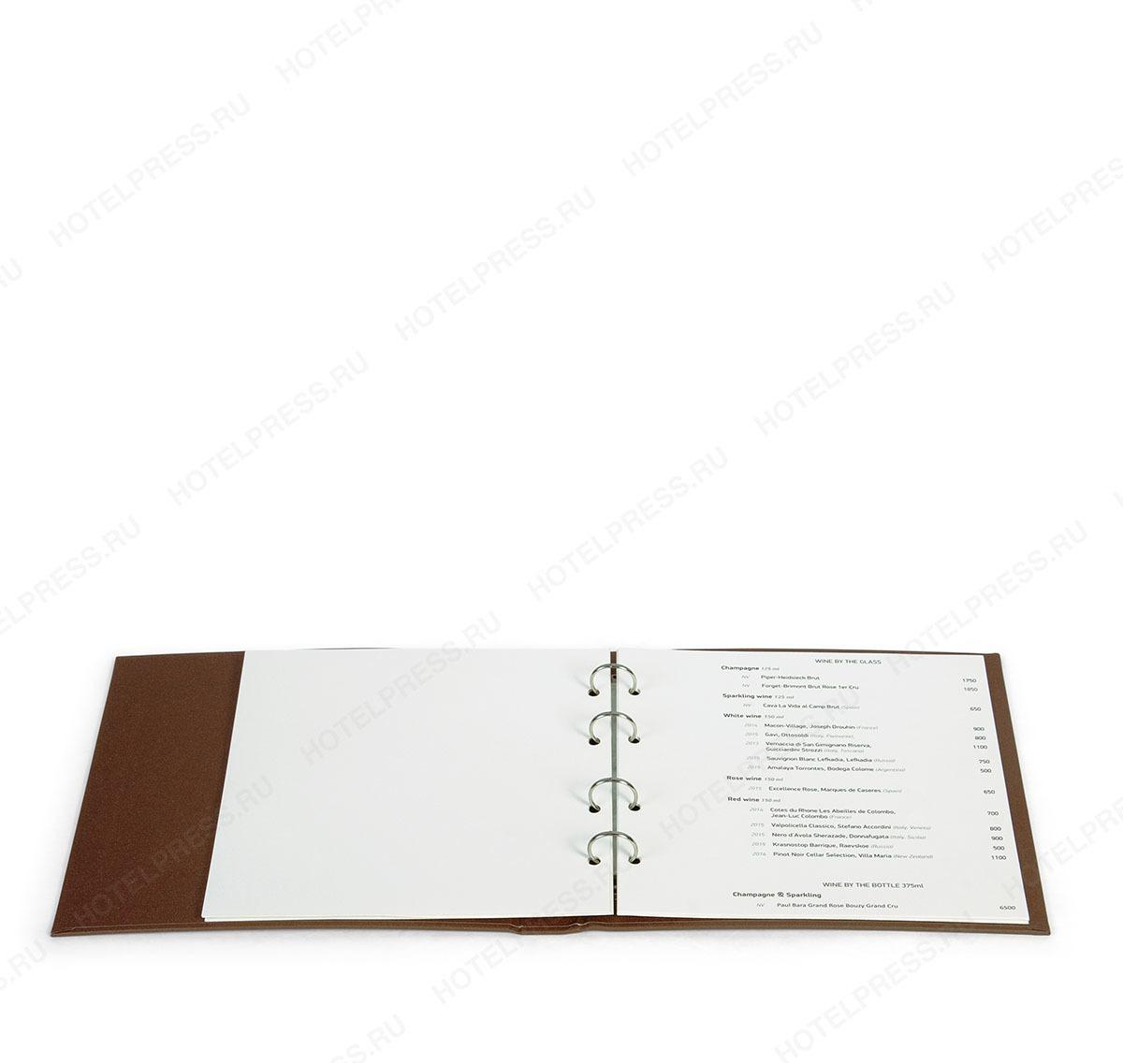 Папка рум сервис  переплетная МРС_5