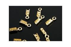 Зажим концевик 8 мм цвет золото цена за 10 шт