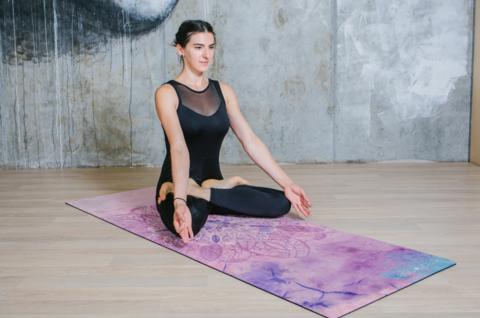 Коврик для йоги Sky 183*66*0,1-0,3 см из микрофибры и каучука