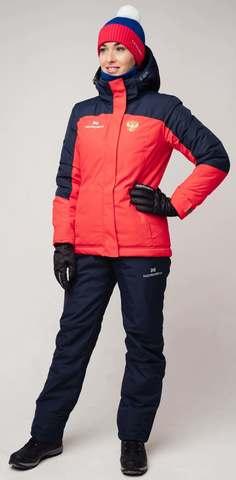 Утепленная куртка Nordski Mount red/dark blue W женская