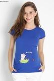 Футболка для беременных 08440 синий