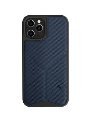 Чехол Uniq Transforma для iPhone 12 Pro Max | с раскладной магнитной подставкой синий