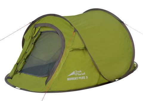 Палатка Trek Planet Moment Plus 3, зеленая, 280х180х95 см