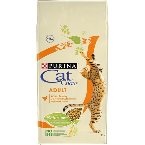 Cat Chow Adult Rich in Poultry Сухой корм для кошек с Птицей