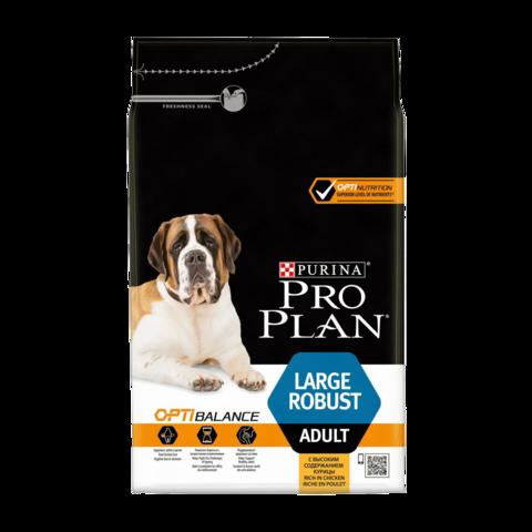 Purina Pro Plan Adult Optihealth Large Robust Сухой корм для собак крупных пород с мощным телосложением с курицей и рисом