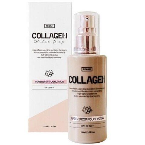 PEKAH Увлажняющая тональная основа с коллагеном Collagen Water Drop, 100 мл