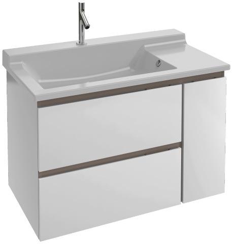 Мебель для ванной комнаты Jacob Delafon  Soprano 80 (тумба+раковина)