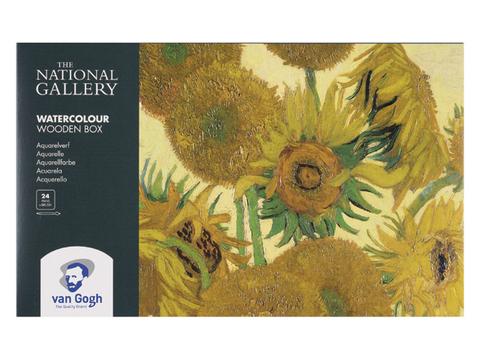 Набор акварельных красок Royal Talens Van Gogh National Gallery, 24 цвета, деревянный короб