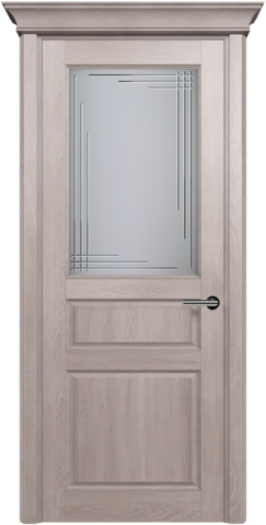 CLASSIC 532 Дуб Серый стекло Грань