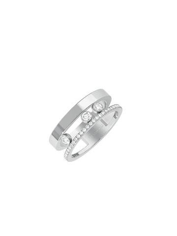 Кольцо из серебра Move с двигающимся цирконами