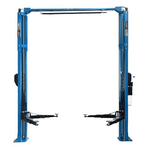 KraftWell (KRW4.2MA_blue) Подъемник двухстоечный г/п 4.2 тонны электрогидравлический с развернутыми каретками