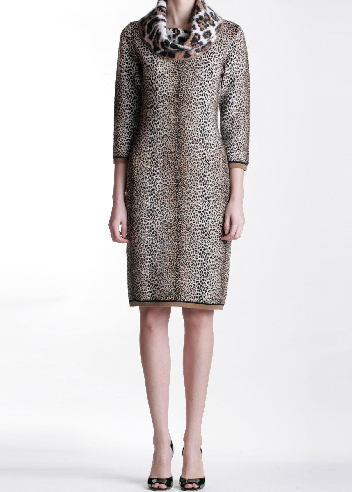 Платье из шерсти и вискозы ANGELO MARANI