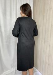Лайма. Стильна комбінована замшева сукня. Хакі