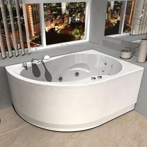 Ванна акриловая Aquatek Вирго 150х100см на каркасе и сливом-переливом. левая/правая