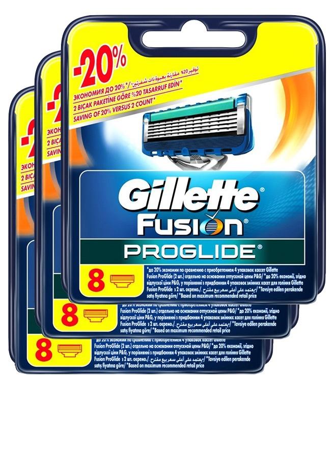 Fusion Proglide комплект (3х8) 24шт. (Цена за 1 пачку 1410р.)