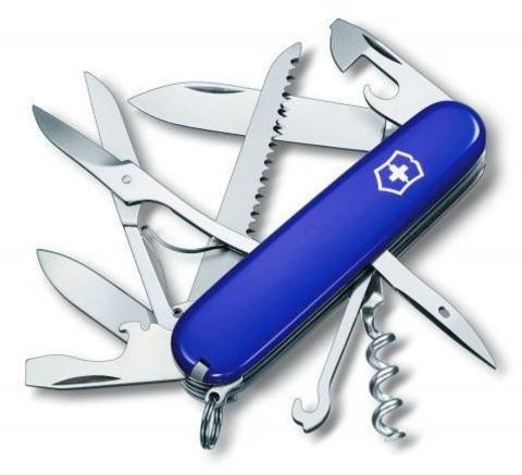 Нож Victorinox Huntsman, 91 мм, 14 функций, синий123